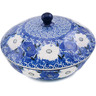 7-inch Stoneware Jar with Lid - Polmedia Polish Pottery H3378L