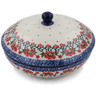 7-inch Stoneware Jar with Lid - Polmedia Polish Pottery H5180K