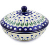 7-inch Stoneware Jar with Lid - Polmedia Polish Pottery H5895J