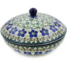 7-inch Stoneware Jar with Lid - Polmedia Polish Pottery H5896J