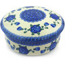 7-inch Stoneware Jar with Lid - Polmedia Polish Pottery H6539G