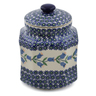 7-inch Stoneware Jar with Lid - Polmedia Polish Pottery H6555K