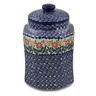 7-inch Stoneware Jar with Lid - Polmedia Polish Pottery H6597K