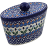 7-inch Stoneware Jar with Lid - Polmedia Polish Pottery H7464K