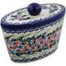 7-inch Stoneware Jar with Lid - Polmedia Polish Pottery H7470K