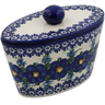 7-inch Stoneware Jar with Lid - Polmedia Polish Pottery H7481K