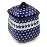 7-inch Stoneware Jar with Lid - Polmedia Polish Pottery H9119B