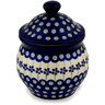 7-inch Stoneware Jar with Lid - Polmedia Polish Pottery H9508C