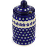 7-inch Stoneware Jar with Lid with Opening - Polmedia Polish Pottery H0300E