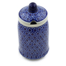 7-inch Stoneware Jar with Lid with Opening - Polmedia Polish Pottery H0551A