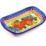 7-inch Stoneware Platter with Handles - Polmedia Polish Pottery H2174G
