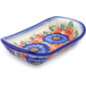7-inch Stoneware Platter with Handles - Polmedia Polish Pottery H2593J