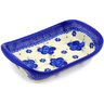 7-inch Stoneware Platter with Handles - Polmedia Polish Pottery H5186F