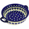 7-inch Stoneware Round Baker with Handles - Polmedia Polish Pottery H0264E