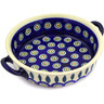 7-inch Stoneware Round Baker with Handles - Polmedia Polish Pottery H0265E