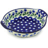 7-inch Stoneware Round Baker with Handles - Polmedia Polish Pottery H4624G