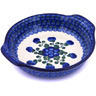7-inch Stoneware Round Baker with Handles - Polmedia Polish Pottery H5939G