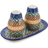 7-inch Stoneware Salt and Pepper Set - Polmedia Polish Pottery H0984B