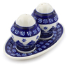 7-inch Stoneware Salt and Pepper Set - Polmedia Polish Pottery H1467J