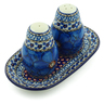 7-inch Stoneware Salt and Pepper Set - Polmedia Polish Pottery H2390C
