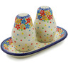 7-inch Stoneware Salt and Pepper Set - Polmedia Polish Pottery H3007K