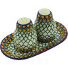7-inch Stoneware Salt and Pepper Set - Polmedia Polish Pottery H4192G