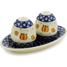 7-inch Stoneware Salt and Pepper Set - Polmedia Polish Pottery H4483J