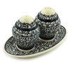 7-inch Stoneware Salt and Pepper Set - Polmedia Polish Pottery H4866I