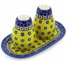 7-inch Stoneware Salt and Pepper Set - Polmedia Polish Pottery H4913B