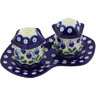 7-inch Stoneware Salt and Pepper Set - Polmedia Polish Pottery H4952G