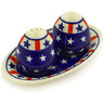 7-inch Stoneware Salt and Pepper Set - Polmedia Polish Pottery H5044E