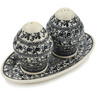 7-inch Stoneware Salt and Pepper Set - Polmedia Polish Pottery H5136D