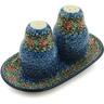 7-inch Stoneware Salt and Pepper Set - Polmedia Polish Pottery H5286I