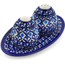 7-inch Stoneware Salt and Pepper Set - Polmedia Polish Pottery H5974I
