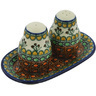 7-inch Stoneware Salt and Pepper Set - Polmedia Polish Pottery H8271G