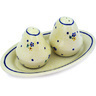 7-inch Stoneware Salt and Pepper Set - Polmedia Polish Pottery H8354C