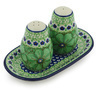 7-inch Stoneware Salt and Pepper Set - Polmedia Polish Pottery H9113G