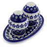 7-inch Stoneware Salt and Pepper Set - Polmedia Polish Pottery H9389C