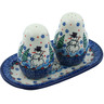 7-inch Stoneware Salt and Pepper Set - Polmedia Polish Pottery H9956H