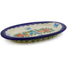 7-inch Stoneware Salt and Pepper Tray - Polmedia Polish Pottery H0784K