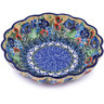 7-inch Stoneware Scalloped Bowl - Polmedia Polish Pottery H0524G