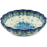 7-inch Stoneware Scalloped Bowl - Polmedia Polish Pottery H0719I