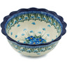 7-inch Stoneware Scalloped Bowl - Polmedia Polish Pottery H0730I