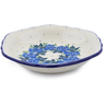 7-inch Stoneware Scalloped Bowl - Polmedia Polish Pottery H1136J