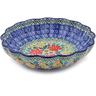 7-inch Stoneware Scalloped Bowl - Polmedia Polish Pottery H2367B
