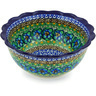 7-inch Stoneware Scalloped Bowl - Polmedia Polish Pottery H4426G