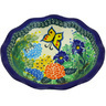 7-inch Stoneware Scalloped Bowl - Polmedia Polish Pottery H4476G