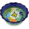 7-inch Stoneware Scalloped Bowl - Polmedia Polish Pottery H4553G