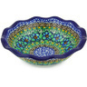 7-inch Stoneware Scalloped Bowl - Polmedia Polish Pottery H5514G