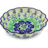 7-inch Stoneware Scalloped Bowl - Polmedia Polish Pottery H6209E
